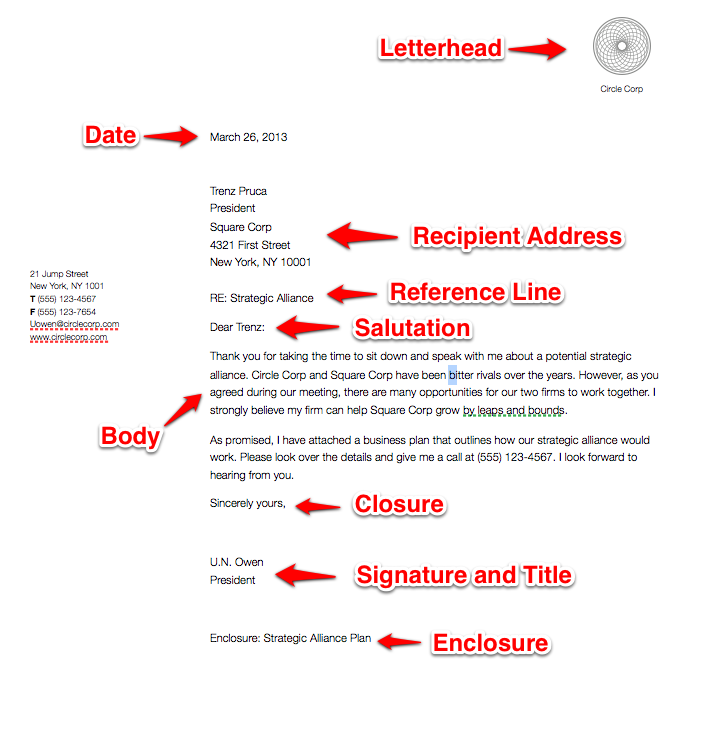Writing A Business Letter Format from www.mybusinessletter.com